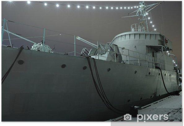 Plakat Stary statek bitwa - Transport wodny