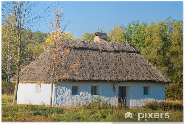 Bardzo dobryFantastyczny Plakat Stary tradycyjny wiejski dom na Ukrainie • Pixers® - Żyjemy BR62