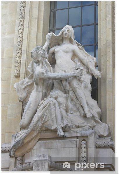 Plakat Statua w Petit Palace. Paryż. Francja - Miasta europejskie