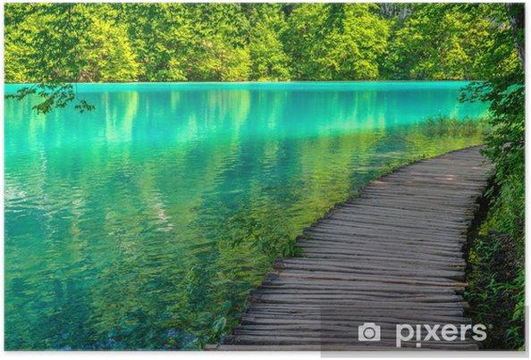 Plakat Staw w Parku Narodowym Jeziora Plitwickie wiosną - Tematy