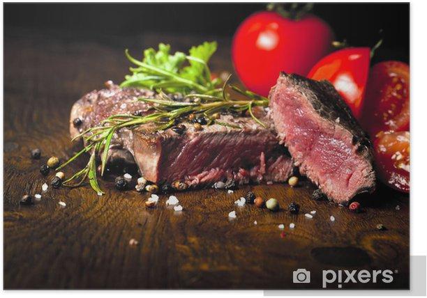 Plakát Steak příprava - Maso