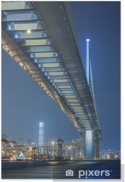 Plakat Stonecutters most w Hong Kongu - Miasta azjatyckie