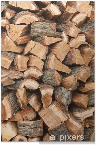 Plakat Stos drewna - Tekstury