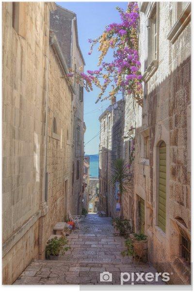 Plakat Street of Korcula, Wyspa Korcula, Chorwacja - Tematy