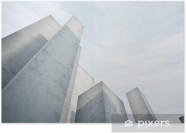 Plakat Streszczenie architektura beton - Inne