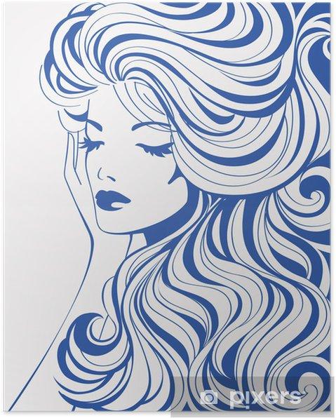 Plakat Streszczenie dziewczyna - Style