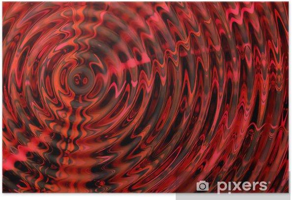 Plakat Streszczenie hipnotycznego 3D tle - Tła