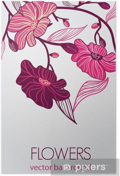 Plakat Streszczenie kwiatów tle - Tła