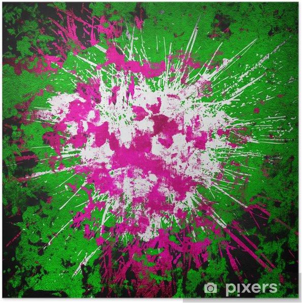 Plakat Streszczenie tle farby splash - Sztuka i twórczość