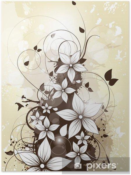 Plakat Streszczenie tle kwiatów wiosną kwiatów i wiruje - Święta Narodowe