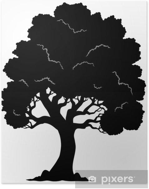 Plakát Strom ve tvaru siluetu 1 - Nálepka na stěny