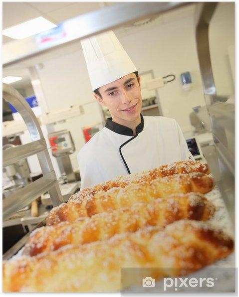 Plakat Student przygotowuje wiedeńskich wypieków piekarni - Tematy