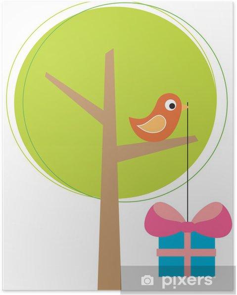 Plakat Stylizowane drzewo z lotu ptaka - Święta międzynarodowe
