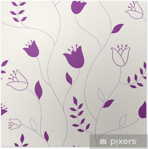 Plakat Stylowa kwiatów tle - Znaki i symbole