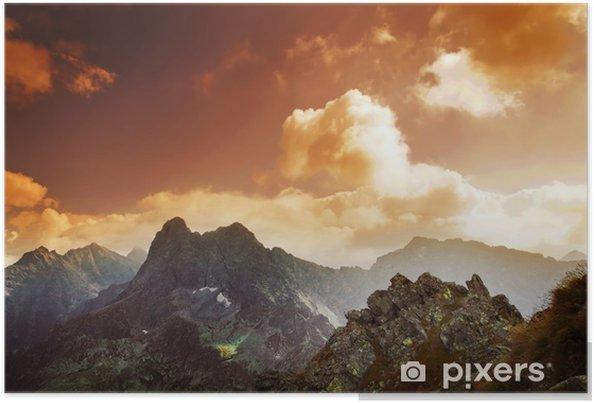 Plakat Sunset krajobraz Góry - Tatry