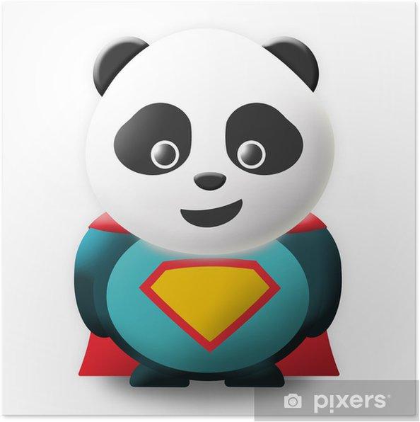 Plakát Super Panda - Nálepka na stěny