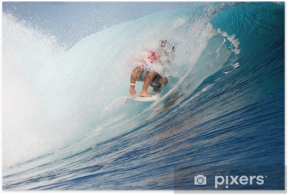 Plakat Surfeur Teahupoo - Sporty wodne