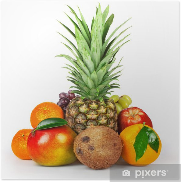 Plakat Surowe owoce - Owoce