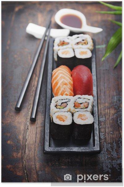 Plakát Sushi s hůlkami - Sushi