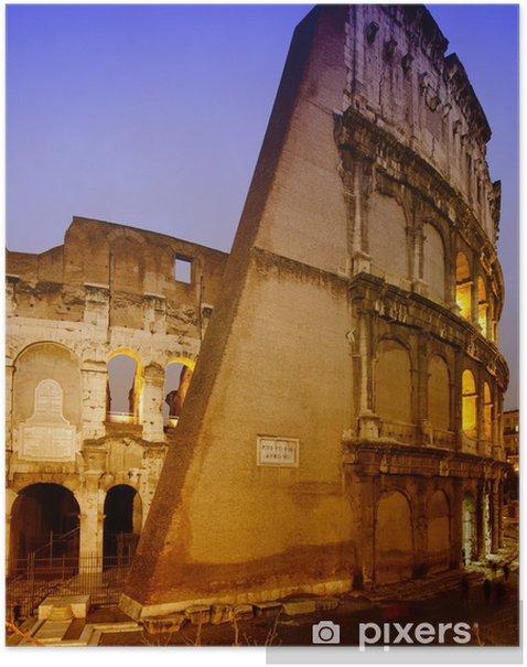 Plakát Světla Colosseum at Night - Přírodní krásy
