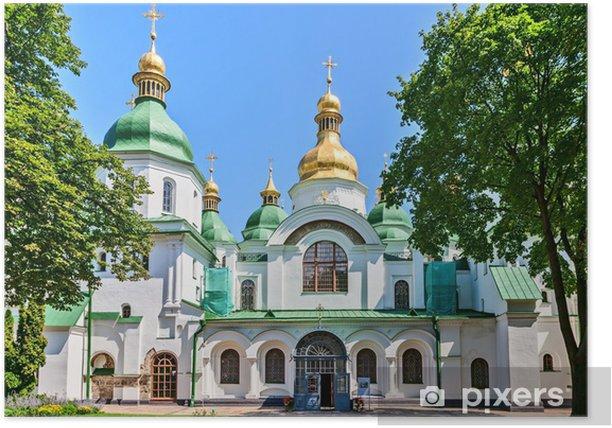 Plakat Św Zofii, Kijów, Ukraina. - Budynki użyteczności publicznej