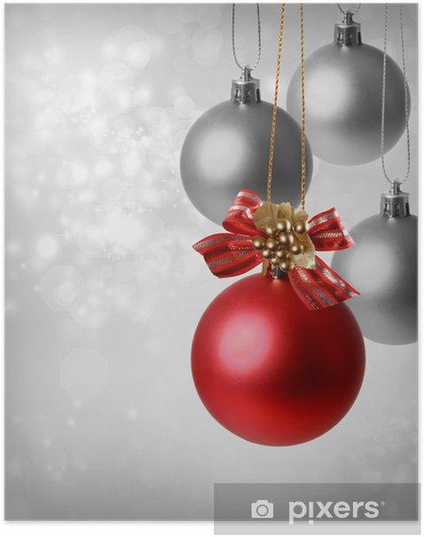 Plakat Świąteczne ozdoby czerwone - Święta międzynarodowe