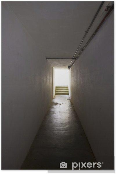 Plakat Światła na końcu tunelu - Budynki użyteczności publicznej