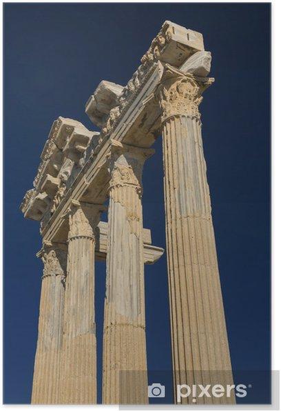 Plakat Świątynia Apollo w Side - Wakacje