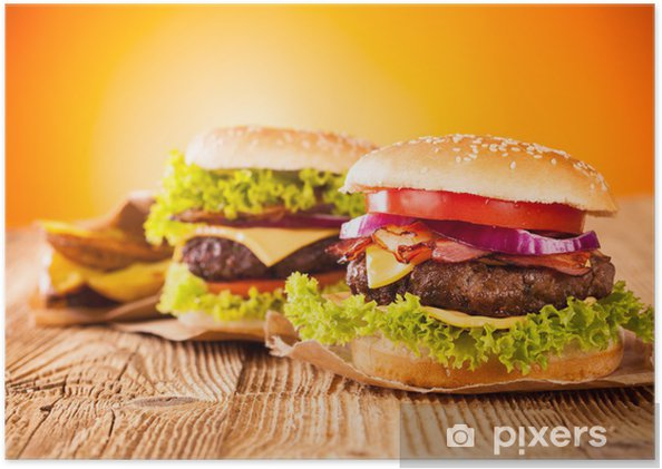 Plakat Świeże hamburgery - Tematy