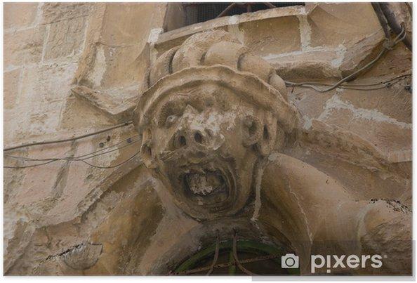 Plakat Sycylijskiego baroku: ciemny brąz - Dom i ogród