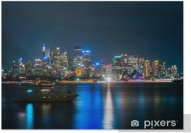 Plakat Sydney skyline Australia Miasto Central Business District w n - Tematy