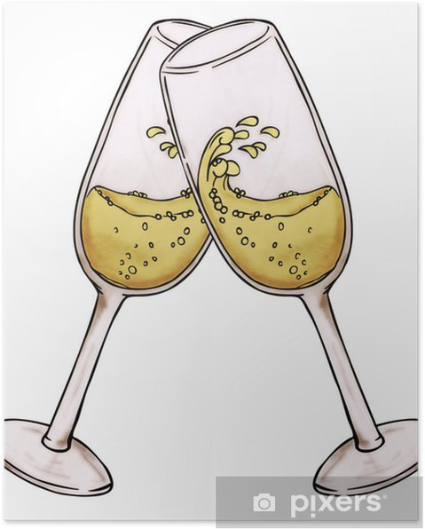 Plakat Sylwester Sylwestra Szampan Impreza Szampan Nowy Rok