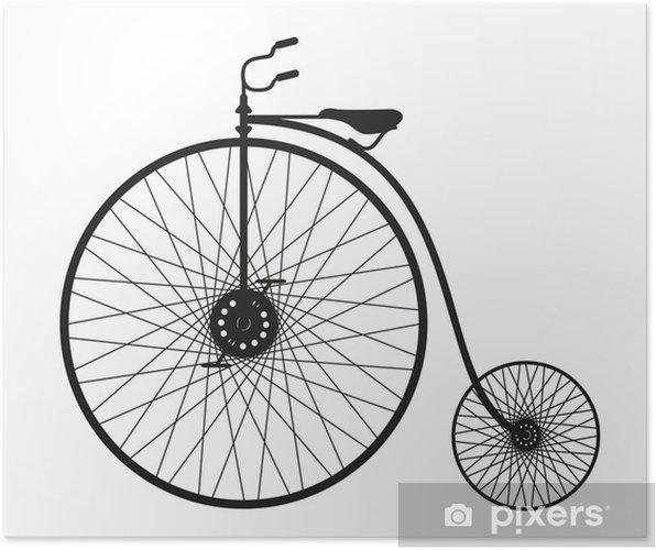 Plakat Sylwetka starego roweru - Sporty indywidualne
