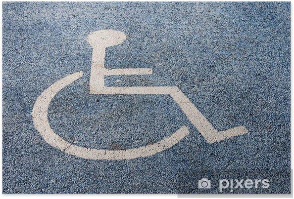 Plakát Symbol Parkování pro invalidy - Zdraví a medicína