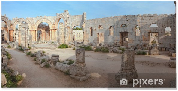Plakat Syria - Church of St Simeon - Qal'a Sim'an - Zabytki