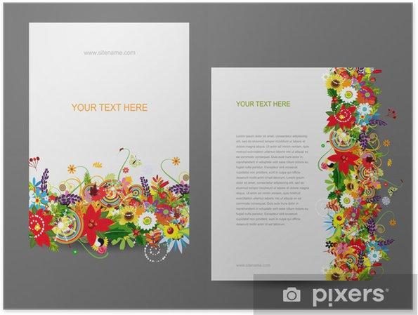 Plakat Szablon papieru, wzór kwiatowy - Koncepcje biznesowe