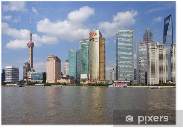 Plakat Szanghaj - Pudong - Miasta azjatyckie
