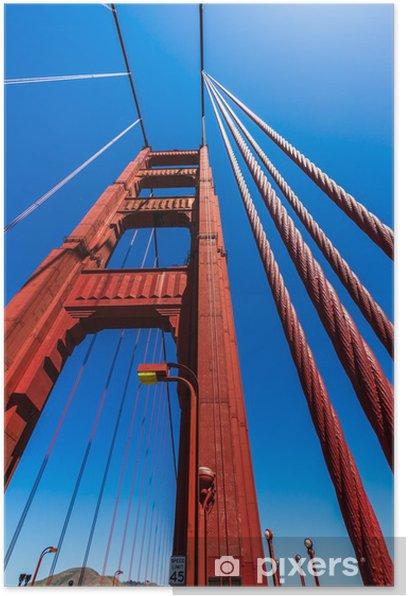 Plakat Szczegóły Golden Gate Bridge w San Francisco w Kalifornii - Miasta amerykańskie