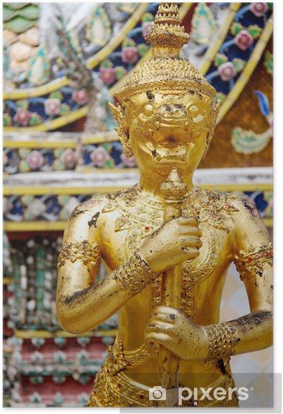 Plakat Szczegóły Wielki Pałac w Bangkok, Tajlandia - Azja