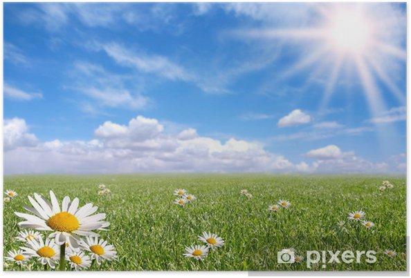 Plakat Szczęśliwy Dzień Wiosny Poza Jasny