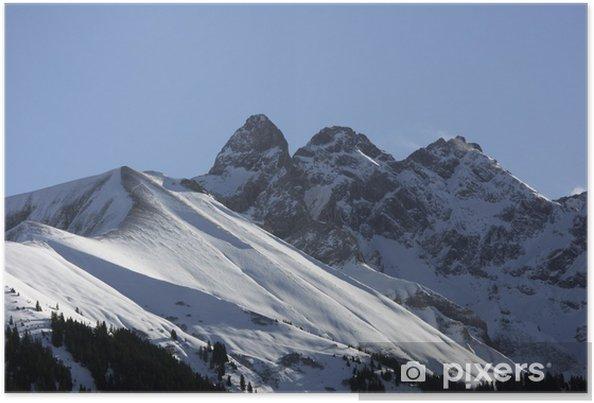 Plakat Szczyt w Alpach Algawskich - Mädlegabel - Europa