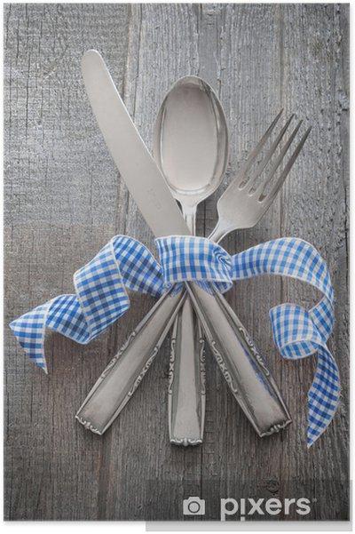 Plakat Sztućce z blauweissem zespołu - Tematy