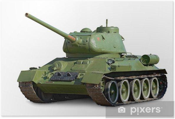 Plakat T-34 Czołg średni podczas II wojny światowej - Tematy