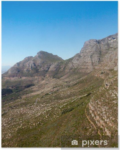 Plakat Table Mountain, Cape Town, Republika Południowej Afryki - Afryka