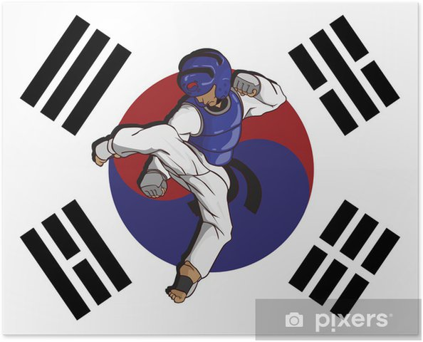 Plakát Taekwondo bojové umění - Extrémní sporty