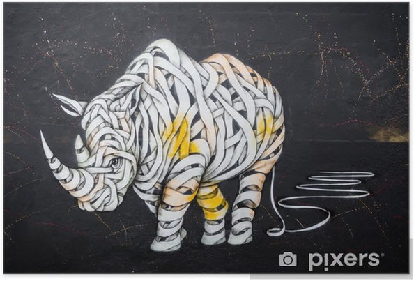 Plakat Tag nosorożca - Hobby i rozrywka