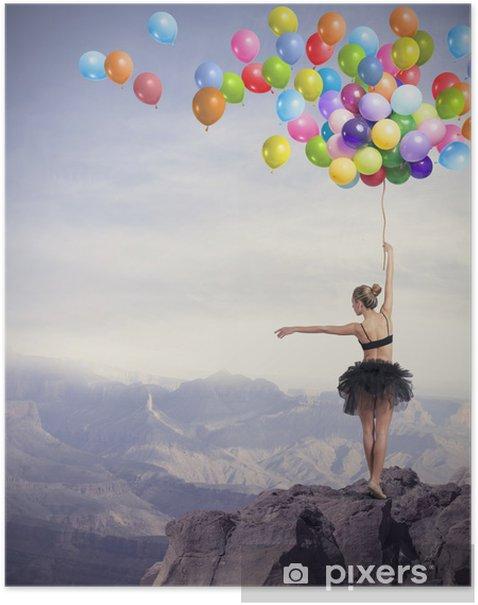Plakat Tancerka z balonami - Tematy