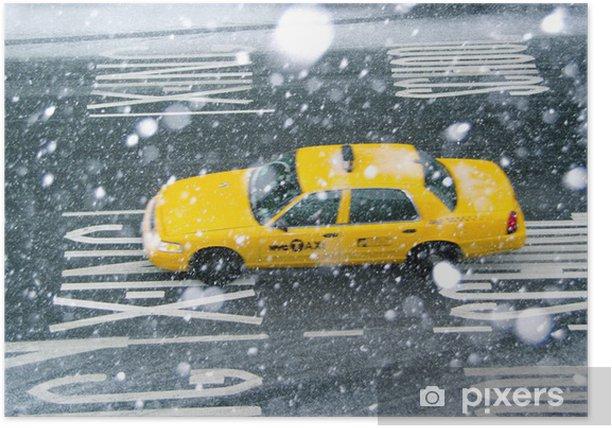 Plakat Taxi giallo new york - Miasta amerykańskie