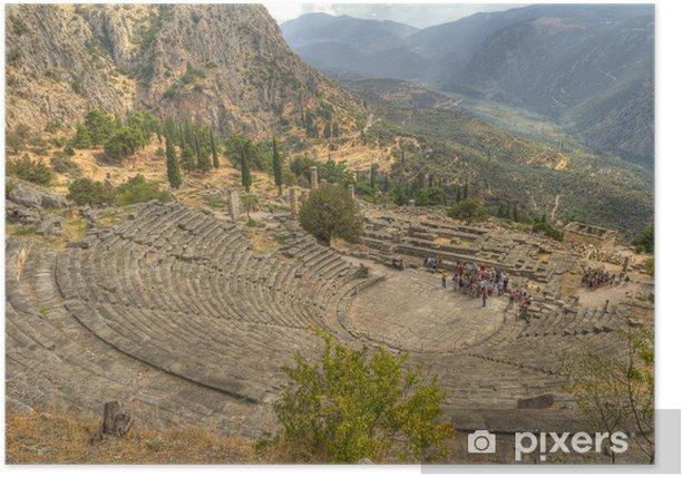 Plakat Teatr w starożytnej Grecji Delphi - Europa