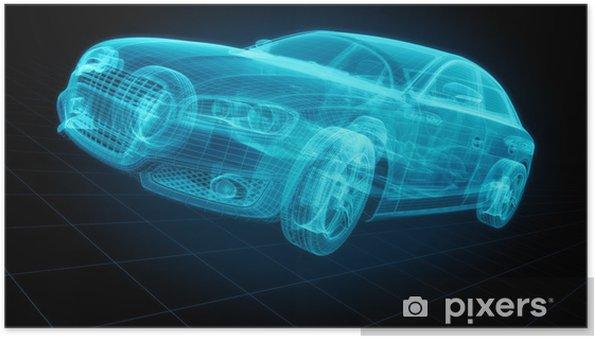 Plakat Techincal Vykres Genericke Auto Pixers Zijeme Pro Zmenu